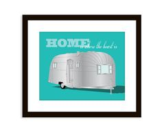 Airstream illustration  8x10 transportation by etchedandsketched, $14.00