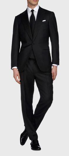 black classic suit: