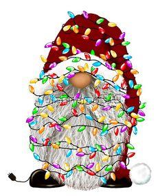 Christmas Vinyl, Christmas Clipart, Christmas Gnome, Christmas Lights, Vintage Christmas, Gnome Pictures, Christmas Decoupage, Scandinavian Gnomes, Christmas Drawing