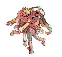 """Kay D. on Twitter: """"thank you nintendo… """" Pearl And Marina, Callie And Marie, Kawaii, Love Games, Cristiano, Cool Artwork, Anime Love, Doodle Art, Comic Art"""