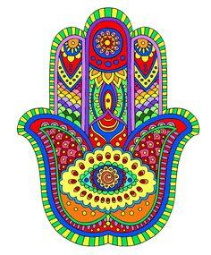 Hamsa Hand Tattoo, Hamsa Art, Hamsa Jewelry, Punk Jewelry, Yoga Jewelry, Hippie Jewelry, Mandalas Painting, Mandala Drawing, Mandala Art Therapy
