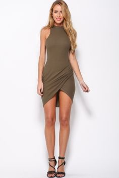 Hello Molly, Blow A Kiss Dress Khaki