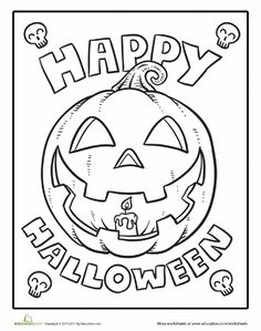 Worksheets: Color the Happy Halloween