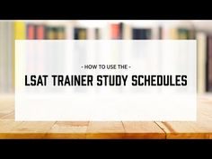 A video on how to use the LSAT Trainer study schedules. Lsat Test Prep, Law School Application, Study Schedule, Nerd Problems, School Admissions, School Planner, School Organization, Back To School, Trainers
