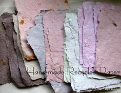 Gorgeous recycled handmade paper