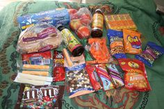 Some easy food items that can be taken on your next camping trip or backpacking trip.