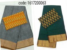 "Grab this Handloom ""Narayanpet sarees"" stood out in simple design in contemporary shades with ""ikat"" blouse Mrp- Rs 965/  (for trade inquiries please contact our whatsapp no  Single / Retail Customer ...please contact 8099433433 B2B/Resellers/Bulk buyers...please contact 8801302000)"
