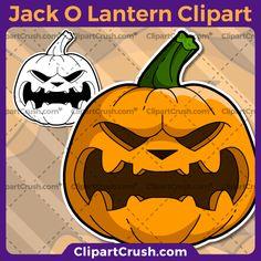A Cartoon Jack O Lantern Clipart - Carved Halloween Clipart Jack O Lantern Pumpkin Clip Art SVG Vector Pumpkin – Clipart Crush