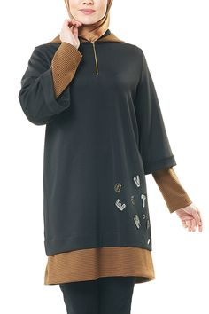 Kadın Siyah Kapüşonlu Tunik Kayra | Trendyol