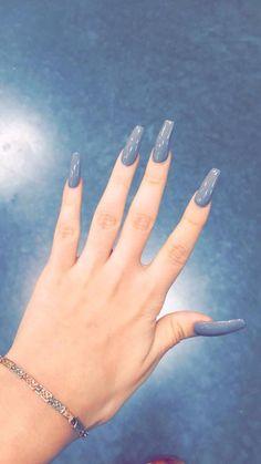 Grayish blue color