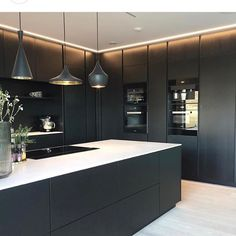 Haven't you heard? Black is the new black!!...Cred: @interiorbyvictoria ...#blackkitchen #scandinaviankitchen #inspirasjonsguidennorge #vakrenjem #kjøkken #kitchens #kitchengoals #kitchendesign #kitchensofinstagram #scandinavian #scandikitchen #beautifulhomes #ikeanorge #blackisbeautiful #blackisthenewblack