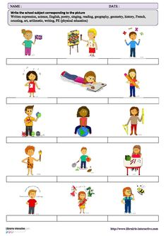 Le vocabulaire des matières en anglais. School Subjects, Teaching French, Teaching English, Education, Conversation, Middle School, High School, Core French, Cycle 2