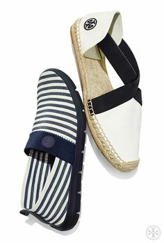 Casually chic + athletic-inspired: Tory Burch Micah Stripe Sneaker &  Catalina Canvas Espadrille · Navy StyleAccessorize ShoesFlat ...