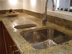 Love the drain board! Granite Tops, Clever, Sink, Spaces, Board, Kitchen, Ideas, Home Decor, Sink Tops