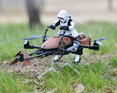Now You Can Fly An Actual Star Wars Speeder Bike Drone! -  #DIY #drones #geek #rc #speeder #starwars