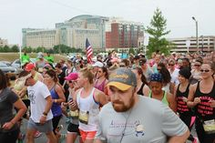 The Chardonnay Run had hundreds of running and wine enthusiasts taking off for a three mile run around the National Harbor, just outside of Washington, DC.
