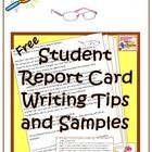 Teachers, let's face it. No one likes to have to write up report cards. Here's some help for you... FREE