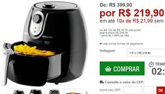 Fritadeira Elétrica Mallory Smart Air Fryer 23L Preta << R$ 21990 em 10 vezes >>