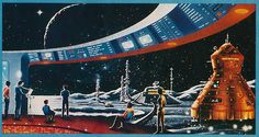 Now that's a room with a view. Unknown artist, from Starlog #32 1980