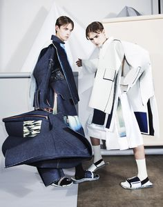 Ximon Lee A/W 15 Editoral from his blog. expressive through form, colour pallet and textiles. http://xximonlee.tumblr.com