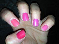 Creative Vinylux Lobster roll, Tropix, Hot Pop pink, Pink Bikini & Gotcha all with Grapefruit Sparkle!!
