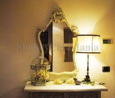 Shabby Chic Mania by Grazia Maiolino Oversized Mirror, Our Wedding, Shabby Chic, Credenza, Simple, Farmhouse, Inspiration, Furniture, Beautiful