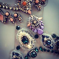 @refinery29 | Ooooh sparkles. Sharouk statement necklace amazingness | Webstagram