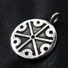 Silver Perun pendant. Reenactment. Slavic. Pagan. Medieval. Amulet.