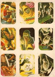 Vintage Monster Stickers