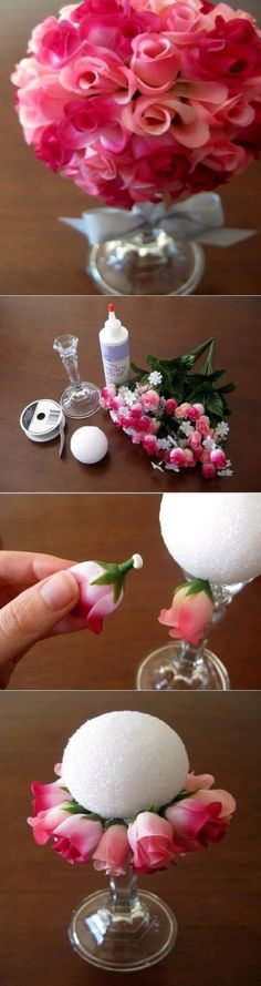 DIY Flower Ball flowers diy crafts home made easy crafts craft idea crafts ideas diy ideas diy crafts diy idea do it yourself home crafts
