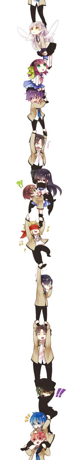 This is just too adorable! Angel Beats! chibis