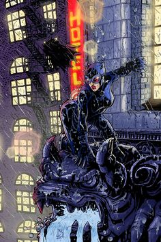 Catwoman and Batman by ~Nszerdy
