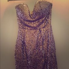 strapless sequin dress tight, cute, and perfect go to outfit when going out! Dresses Strapless