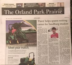 Orland Park High school junior publishes SciFi novel Published in The Prairie Newspaper, Life & Arts Sections June 21, 2018  Orland Park High school junior Aaron Hanania published his first novel this month, a Science Fiction tale about a science experiment gone wrong involving a misguided scientist, ...