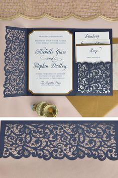 cricut wedding invitations Ideas for vintage wedding invitations diy envelopes Cricut Wedding Invitations, Wedding Invitation Wording, Elegant Wedding Invitations, Pocket Invitation, Invitation Ideas, Wedding Stationery, Invite, Invitation Suite, Wedding Cards