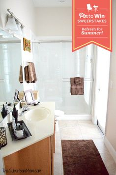 Guest Bathroom Makeover & BHG Pin to Win Sweepstakes. #BHGRefresh