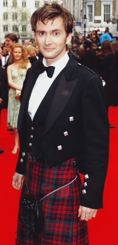 David Tennant in a kilt