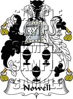 Nowell Family Crest apparel, Nowell Coat of Arms gifts