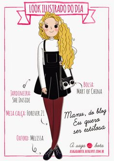 Outfit of the day illustration Manu - Blog Eu quero ser estilosa