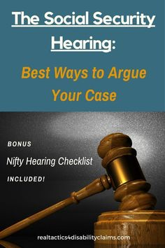 Learn the ins and outs of preparing for your Social Security Disability Hearing. Includes a Free Bonus Hearing Checklist so you can start preparing for your disability hearing now. Disability Help, Disability Insurance, Social Security Benefits, Ankylosing Spondylitis, Divorce Attorney, Risk Management, Chronic Pain, Chronic Fatigue, Chronic Illness