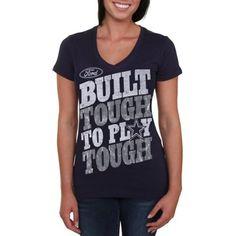 Women's Dallas Cowboys Navy Blue Play Tough Ford V-Neck T-Shirt