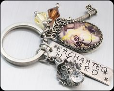 Enchanted Wizard Key Chain Wizard Keychain by BlackberryDesigns, $43.00