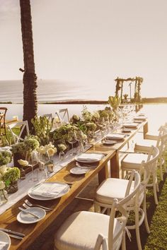 An inspiration for beach wedding decoration one couples charming chimene harper bali wedding planner bali event hire crossback chairs wedding day sunset ivory bouquets minimalist chic scheduled via junglespirit Gallery