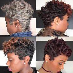 Best Ideas For Short Haircuts Picture DescriptionWhich is your fav? Cut and colors via Kisha Jefferson Read the article here - blackhairinformat. Cute Hairstyles For Short Hair, Short Hair Cuts, Braided Hairstyles, Beautiful Hairstyles, Natural Hair Cuts, Natural Hair Styles, Pixie Styles, Short Hair Styles, Hair Dos