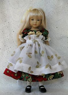 "Holly Holiday OOAK Outfit for Effner 13"" Little Darling ~ by Glorias Garden"