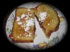 Fried apple butter sandwich.