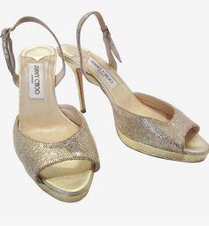 Jimmy Choo Gold Sandal