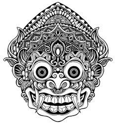 Image result for barong mask drawing Barong Bali, Balinese Tattoo, Mask Drawing, Tatoo Designs, Indonesian Art, Mask Tattoo, Aztec Art, Tattoo Project, Design Elements