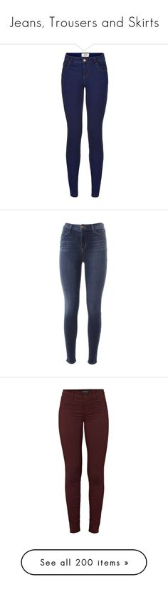 """Jeans, Trousers and Skirts"" by gisella-jb-pintos ❤ liked on Polyvore featuring jeans, pants, bottoms, pantalones, blue pattern, super skinny jeans, 5 pocket jeans, blue skinny jeans, skinny leg jeans and patterned jeans"