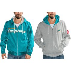 612f1456901 Miami Dolphins G-III Sports by Carl Banks Reversible Hooded Full Zip Jacket  – Gray Aqua. Gray JacketMiami DolphinsNew York GiantsPhiladelphia ...